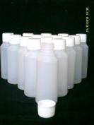 20 x 50 ml empty plastic bottles + screw top lid Ideal craft / cosmetics / travel / hobby