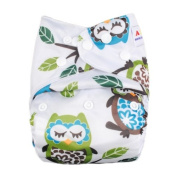 Alva Baby Reuseable Washable Pocket Cloth Nappy With 2 Liners N11T-EU