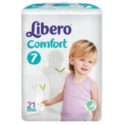 Libero 7 Comfort Xlarge Nappies 15-30kg pack of 21