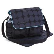 Large Black & Grey Polka Dots Nappy Nappy Changing Bags Set