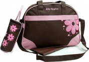 4PCS Brown/Pink Baby Nappie Nappy Changing Bags