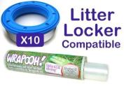 Litter locker compatible cassette liner from Wrapooh . Equivalent to approx 10 Litter locker cassettes. Please read description for details.