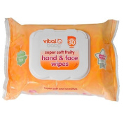 Vital Baby Super Soft Fruity Hand and Face Wipes, Pack of 30