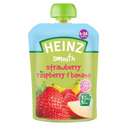 Heinz Strawberry/ Raspberry and Banana Fruit Pouch 4-36 Months 100 g