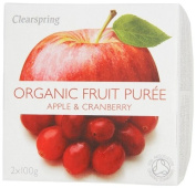 Clearspring Organic Apple and Cranberry Fruit Puree 2 x 100 g