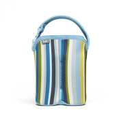 Built NY Two Bottle Tote Baby Blue Stripe