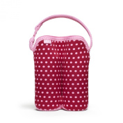 Built NY Two Bottle Tote Baby Pink Mini Dots