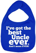 Dirty Fingers, I've got the Best Uncle Ever, Boy Girl Feeding Bib, Royal Blue