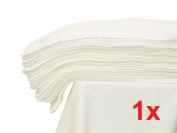 1x - Decorative Muslin Square Cloth 70x80 Baby Reusable Bibs / Nappy / Wipes - WHITE