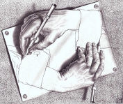 M.C. Escher Art Print, Drawing Hands