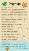 Christian Gift Footprints Prayer Card