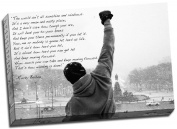 Large Rocky Balboa Hope Qoute Canvas Print Poster 80cm x 50cm A1