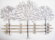 Wall Art - Metal Wall Art Picture - Winter Tree Scene