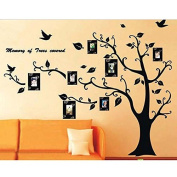 Family Photo Frame Tree Branch & Leaves wall decal sticker