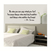 Be Who You Are Say What You Feel Words Dr. Seuss Wall Art Quote Decor Decal Sticker