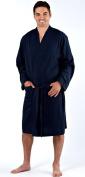 Mens Dressing Gown Lighweight 100% Pure Cotton Jersey Summer