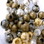 1000 pieces 2.4mm Metal Spacer Beads - Mixed Colour - A6815