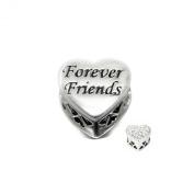 Soufeel 925 Sterling Silver Forever Friend Heart Charm European Bracelets Compatible
