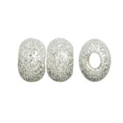 DUMAN 100pcs 6mm Silver Plated Stardust Round for Jewellery Making
