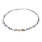 Multicolor Rhinestone Elastic Anklet Ankle Bracelet