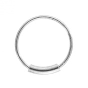 Blue Banana Body Piercing - Silver 1mm Eyebrow Lip Cartilage Earring BCR Cylinder Closure Hoop Ring