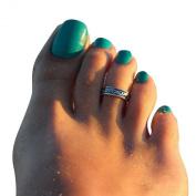 Atdoshop(TM) 2PC Women Adjustable Antique Silver Metal Toe Ring