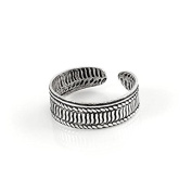 Sterling Silver Ribbed Adjustable 5mm Toe Ring / Rings / Band