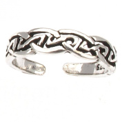 Sterling Silver Celtic Design Toe Ring - Wavy Edge