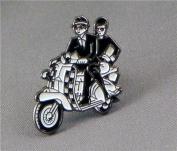 Metal Enamel Pin Badge Brooch MOD Checkers Ska Scooter Riders