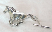 Running Horse Tie Pin in Fine English Pewter, Gift Boxed