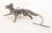 Running Fox Tie Pin in Fine English Pewter, Gift Boxed