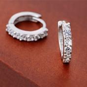ANDI ROSE Jewellers 925 Sterling Silver Rhinestones Hoop Stud Earrings for Women