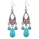Silver & Turquoise Drop Earrings