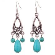 Silver & Turquoise Drop Earrings