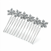 GIZZY® Ladies Girls Silver Coloured Diamonte Floral Bar design hair side Comb
