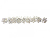 Jewellery of Lords 10 Sparkling White Crystal Flower Wedding Bridal Bride Prom Hair Bobby Silver Pin