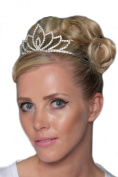 Gorgeous Silver Plated Tiara With. Crystals - HG0078