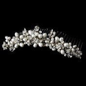 Beautifully designed hair comb with crystals and Pearls (Angela) Tiara wedding prom bridesmaid