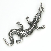 Gecko Pendant Jewellery 925 Sterling Silver, Pendant with Eyelet