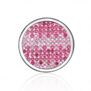 Interchangeable Coin for Interchangeable Pendant Necklace -Pink & White -