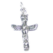 Totem Pole sterling silver charm .925 x 1 Native American Red Indian SSSC018