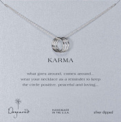 Dogeared Sterling Silver Triple Karma Ring Necklace 45.72cm