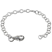 One Silver Extension Extender Chain - 10cm (4 inch) Approx. with Lobster Clasp
