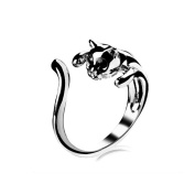 JE5041 Jewellery Ring,Gold Plated Or Silver Plated Cat Shape Ring, Adjustable Size