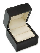 Luxury High Gloss Wooden Ring Box - Black Wood