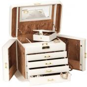 Mele & Co Empress Cream and Tan XL Jewellery Box