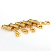Ecloud Shop 3 pieces 5 X Gold Tone Magnetic Clasp Converter Findings 0.6cm FASHION