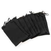 10 Black Sunglasses Eyeglasses Cloth Pouch Bag 18cm x 8.9cm HOT