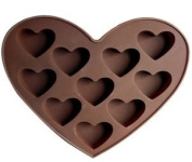 Hearts 10 Cavity Silicone Mould