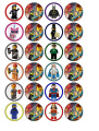 24 x Lego Movie Cupcake Toppers